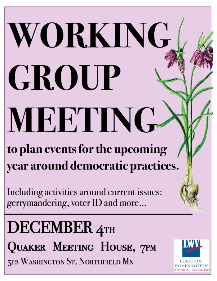 League Dec 1 Winter Working Poster