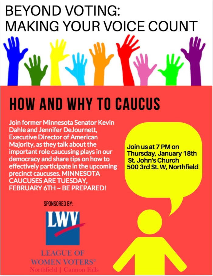 League Caucus training poster
